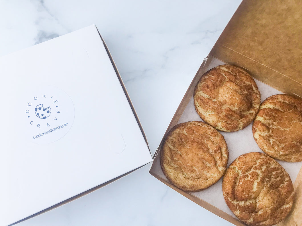 Box of Four Snickerdoodle Cookies