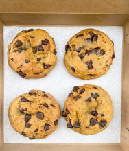 Load image into Gallery viewer, Box of Four Pumpkin Chocolate Chip Cookies