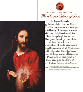 Morning Offering to the Sacred Heart of Jesus Prayer Card