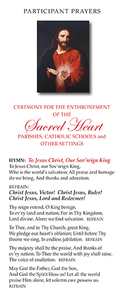 Enthronement to the Sacred Heart in Parishes, Catholic Schools and Other Settings – Participant Guide