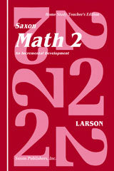 Saxon Math 2 Homeschool Teacher's Manual: Grade 2