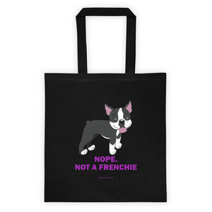 Nope. Not a Frenchie-  Tote bag (Purple)