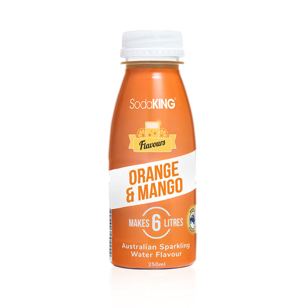 SodaKING Orange & Mango Sparkling Water Flavour