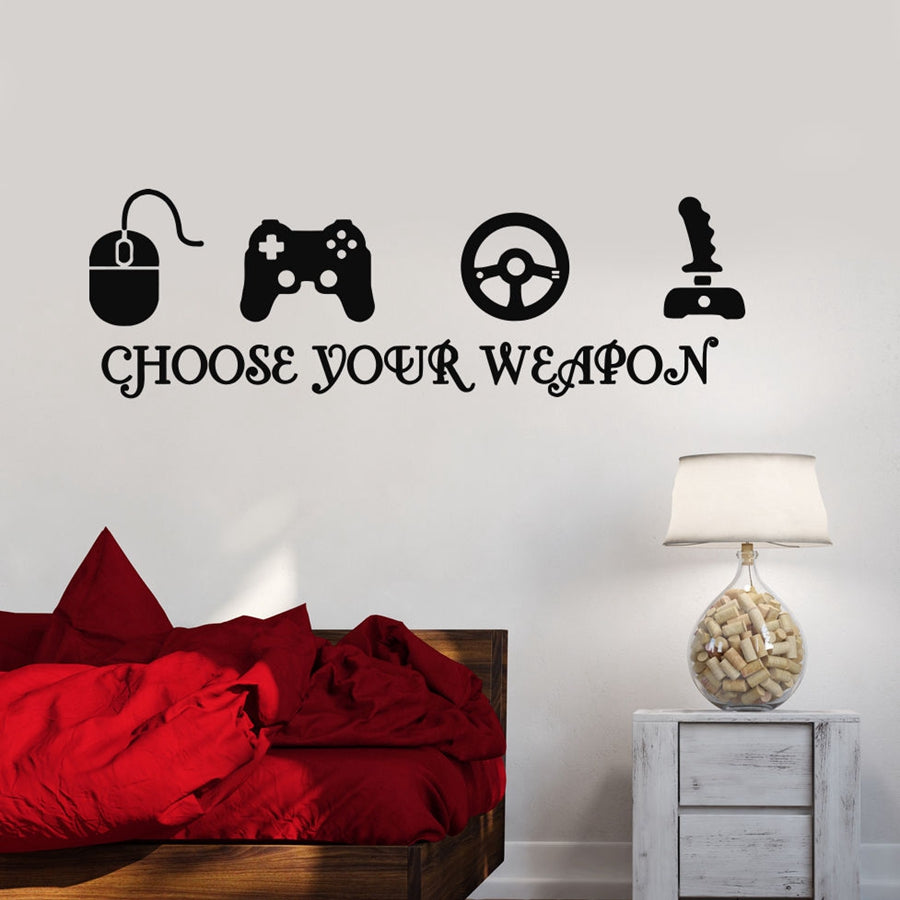 Gamer Vinyl Wall Decals Decor