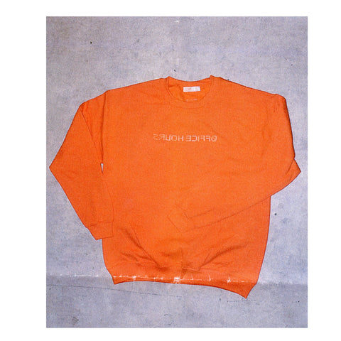courier sweater - orange