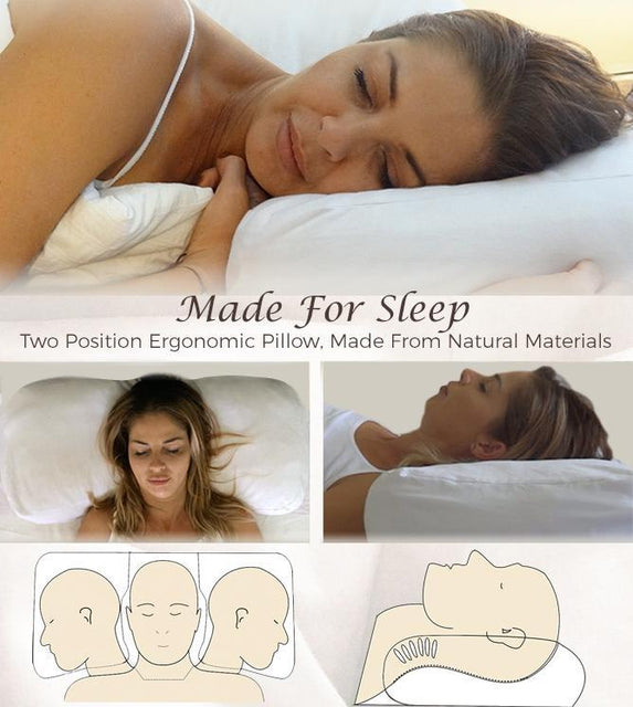Therapeutic support pillow ergonomic back and side sleeper