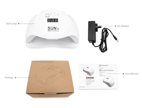 Large LED Nail Dryer and Gel Polish Curing Lamp - Box