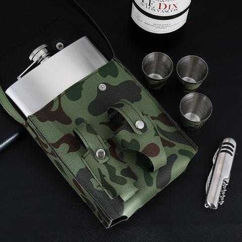 Image of Hip Flask - Camouflage Set