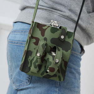 Hip Flask - Camouflage Set