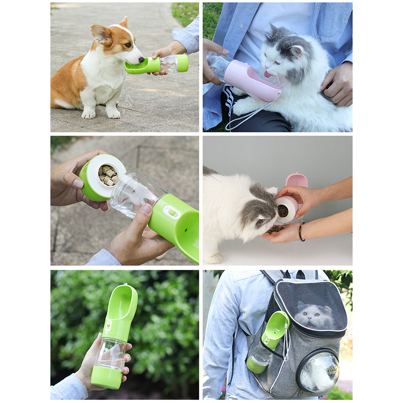 Pet Bottle For Water and Feeder Bowl