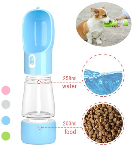 Image of Pet Bottle For Water and Feeder Bowl