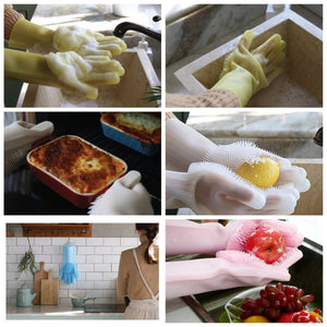 Durable Silicone Dishwashing Gloves