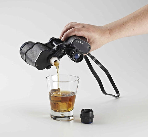 Image of Undercover Travel Hip Flask - Binoculars