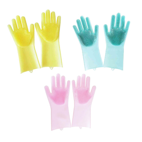 Image of Durable Silicone Dishwashing Gloves