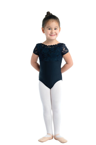 Cap Sleeve Kids Lace Leotard
