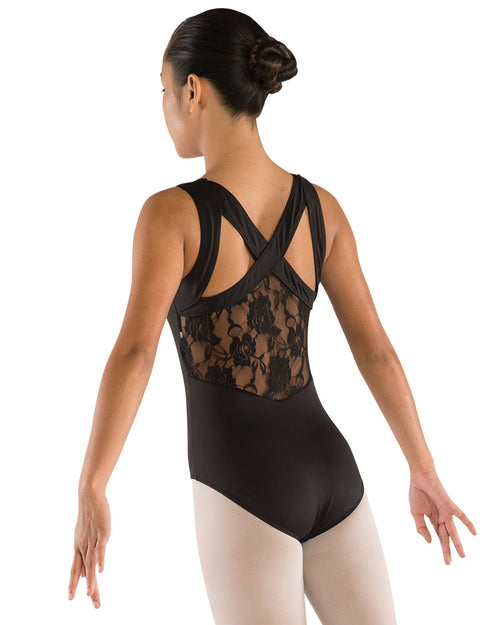 Lace Back Leotard with Wide Straps