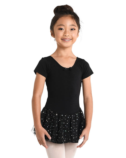 Short sleeve skirt dress for dance