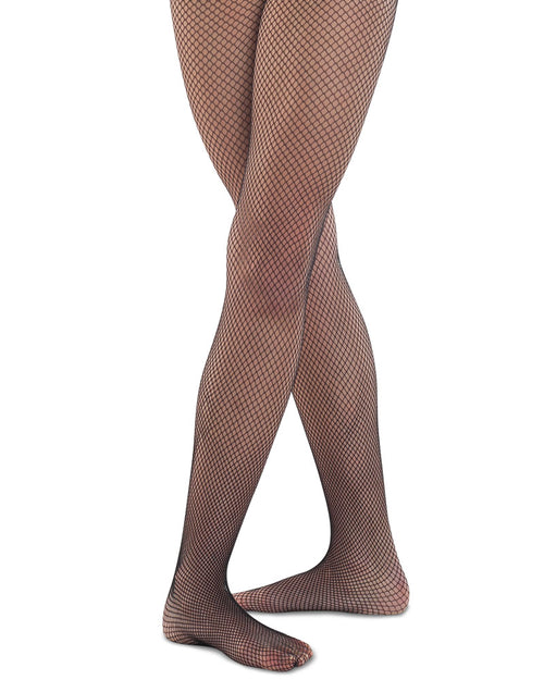 Seamless fishnet tights for girls