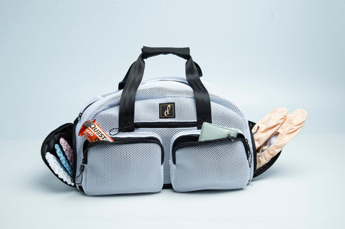 Mesh Duffel Bag With Many Pockets