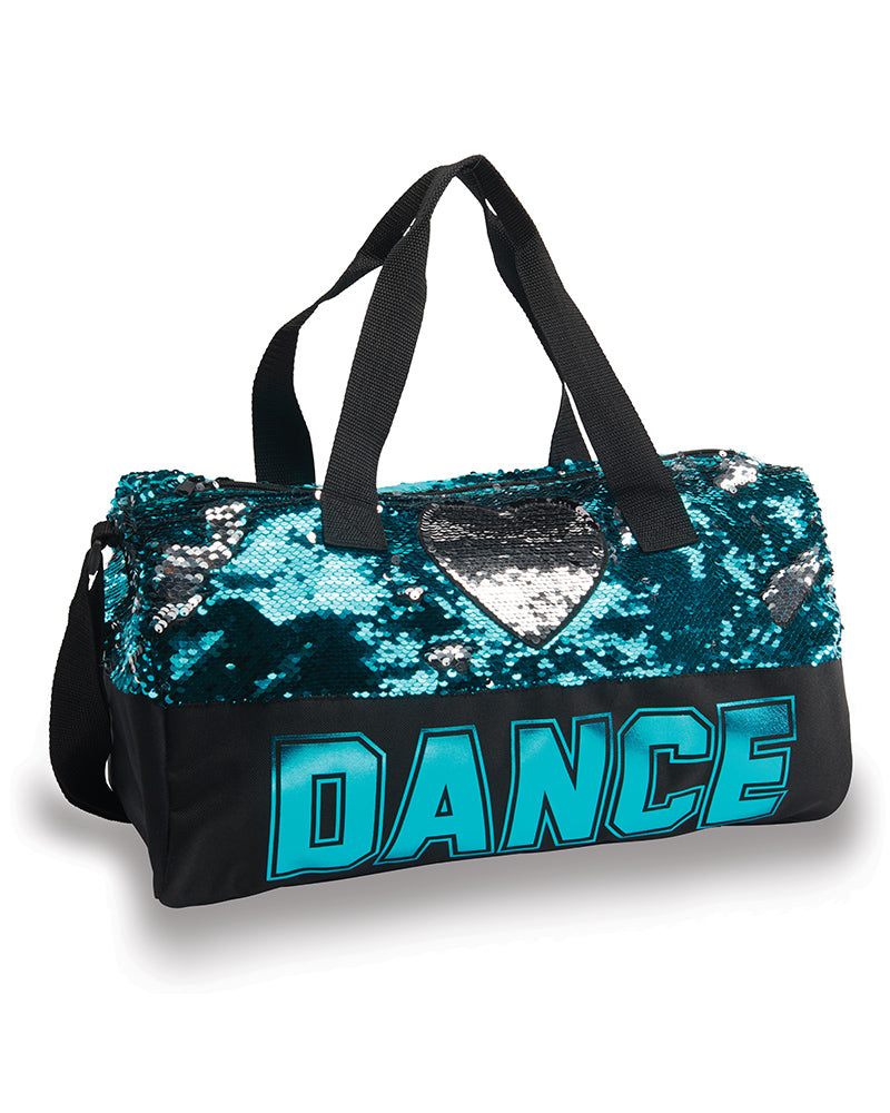 Dance Sequin Heart Duffel