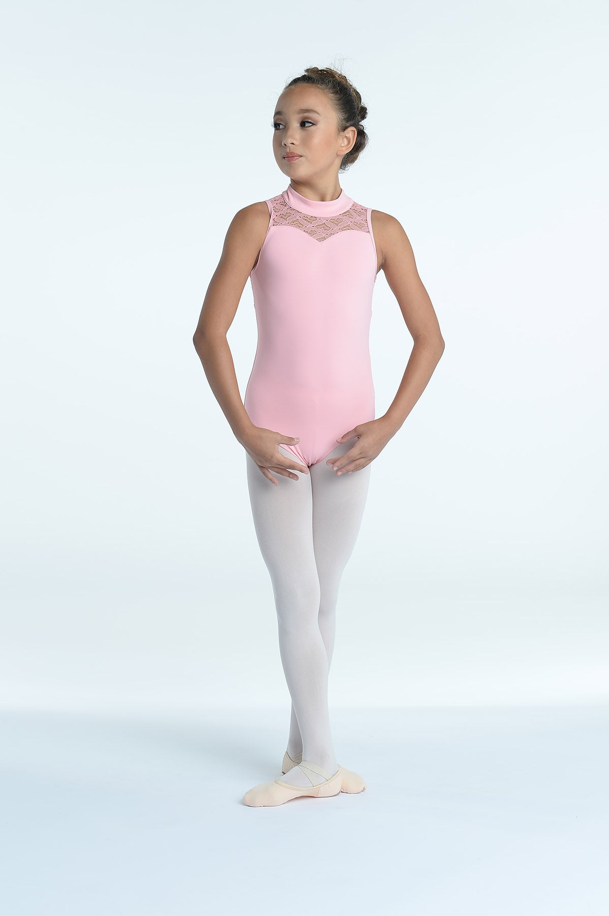 Cut Away Lace Leotard - Girls