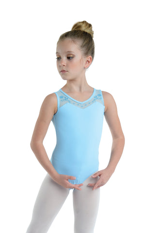 Leotard for kids with mesh