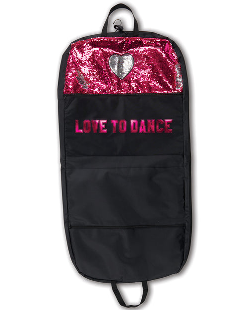 Sequin Heart Garment Bag