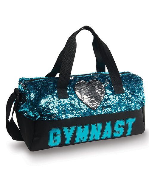 Gymnastics Sequin Heart Duffel