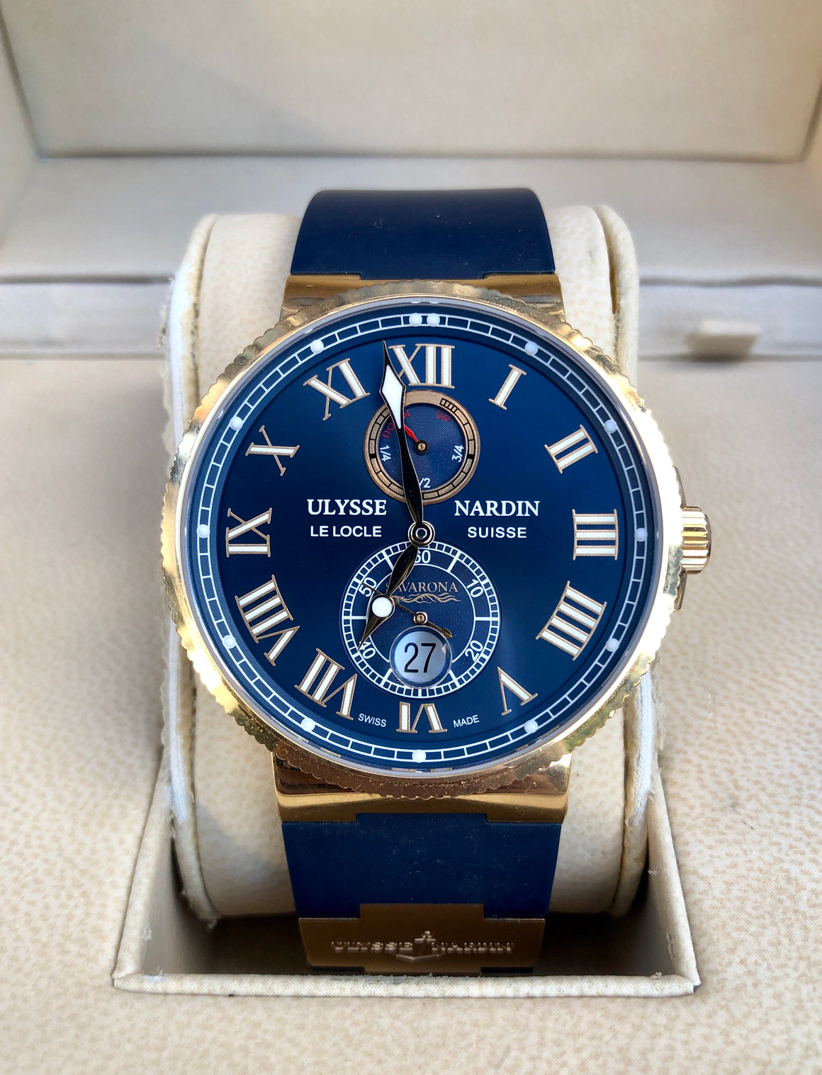 Ulysse Nardin Maxi Marine Chronometer Savarona Limited Edition Rose Gold