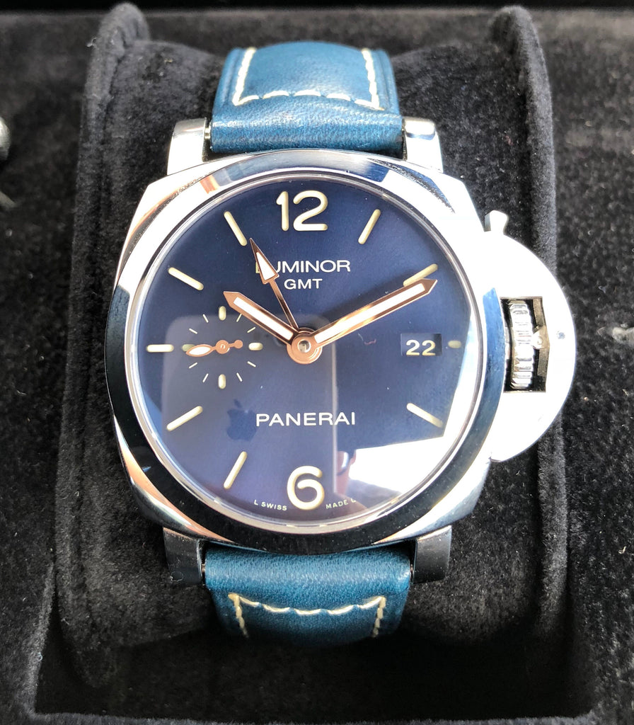 Panerai Luminor Marina 1950 PAM 688 Steel - 42mm - Blue Sunburst & Rose Gold Accents