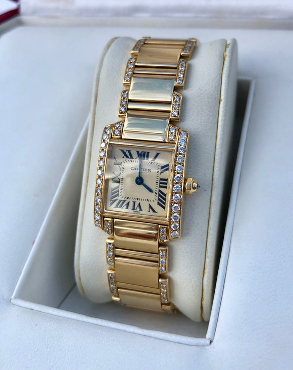 Cartier Tank Francais 18K Gold & Diamonds