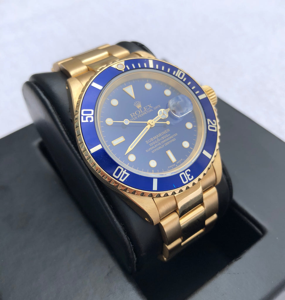 Rolex Submariner 16618 - 18K Yellow Gold - X Serial - 1991