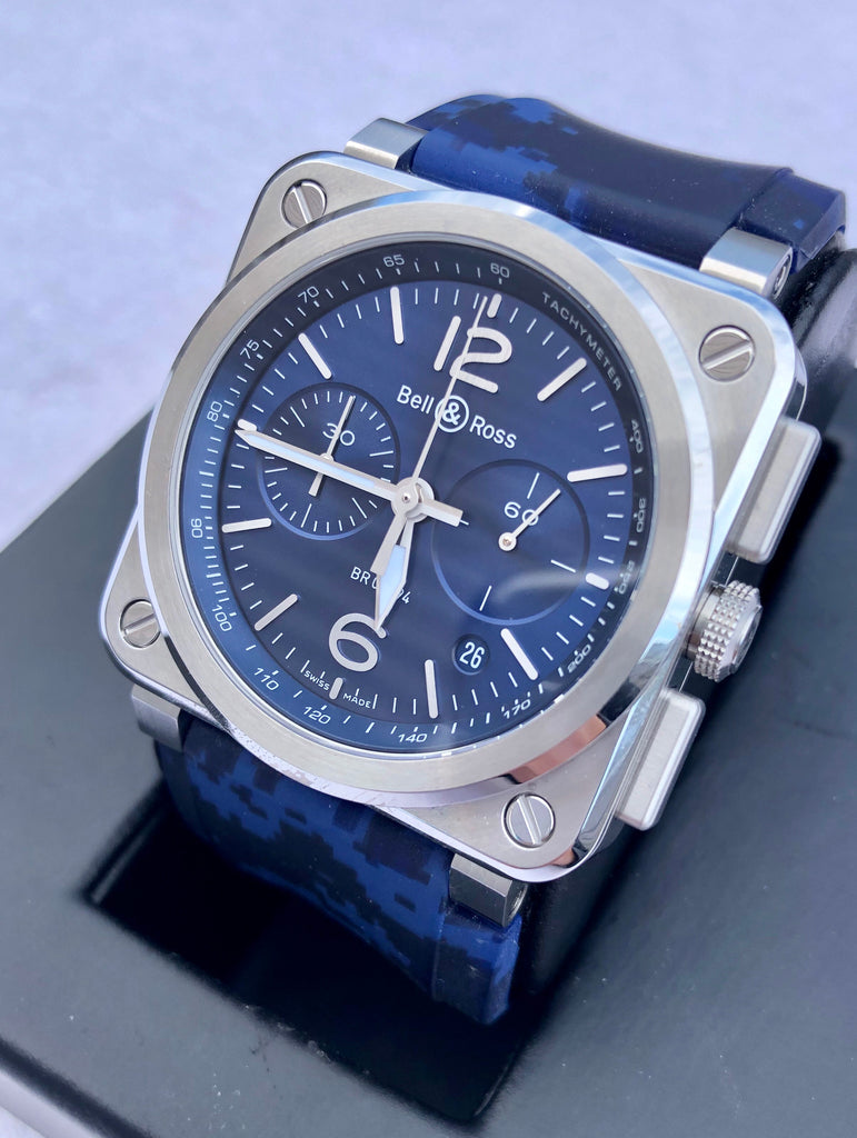 Bell & Ross BR03-94 Blue Steel Chronograph