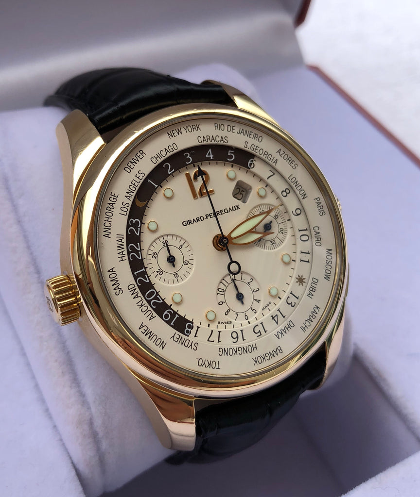 Girard Perregaux WW.TC World Time Chronograph 18K Gold