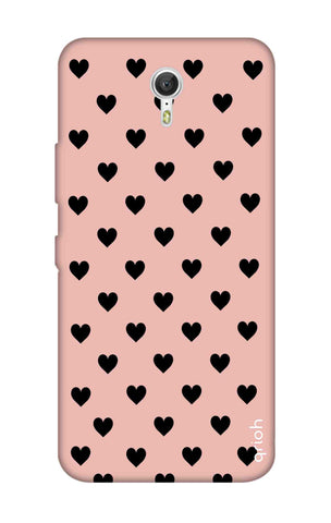 Black Hearts On Pink Lenovo Zuk Z1 Cases & Covers Online