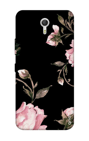 Pink Roses On Black Lenovo Zuk Z1 Cases & Covers Online