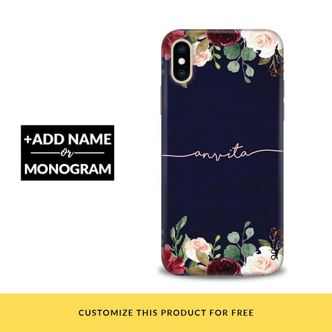 Navy Sapphire Customized Phone Cover