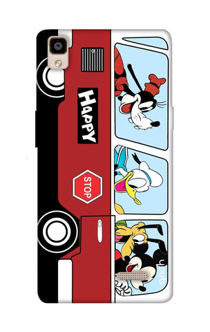 Cartoon Bus Oppo R7 Cases & Covers Online