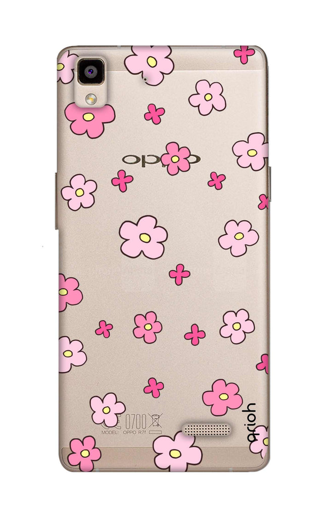 free shipping bb687 8eaa2 Pink Flowers All Over for Oppo R7