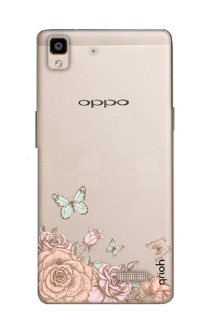 Flower And Butterfly Oppo R7 Cases & Covers Online