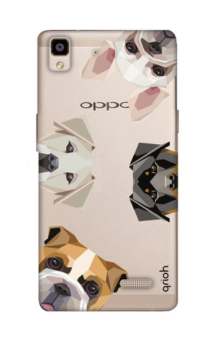 Geometric Dogs Oppo R7 Cases & Covers Online