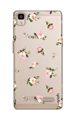 Pink Rose All Over Oppo R7 Cases & Covers Online