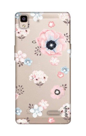 Beautiful White Floral Oppo R7 Cases & Covers Online