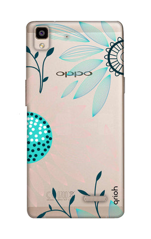 Pink And Blue Petals Oppo R7 Cases & Covers Online