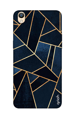 Abstract Navy Oppo R9 Cases & Covers Online