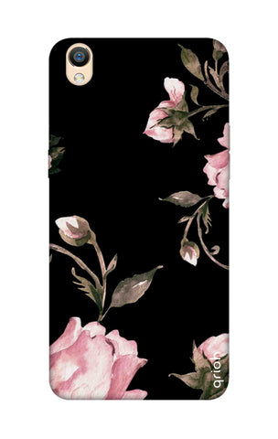 Pink Roses On Black Oppo R9 Cases & Covers Online