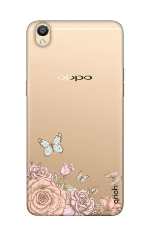 Flower And Butterfly Oppo R9 Cases & Covers Online