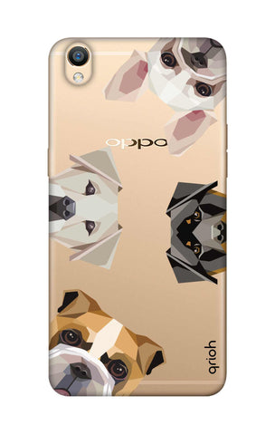 Geometric Dogs Oppo R9 Cases & Covers Online