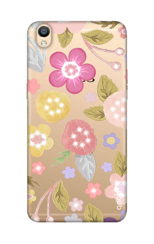 Multi Coloured Bling Floral Oppo R9 Cases & Covers Online