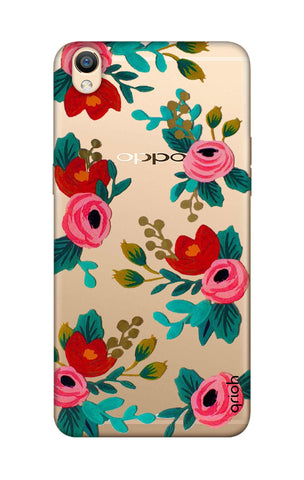 Red Floral Oppo R9 Cases & Covers Online